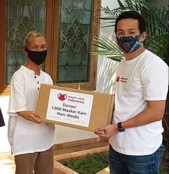DPP PPDI menrima Donasi masker